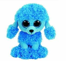 "Blue Poodle 6"" Ty Beanie Boos Puppy Glitter Big Eyes Plush S"