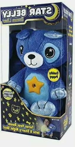 Blue Puppy Star Belly Dream Lites | Stuffed Animal Night Lig