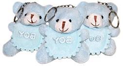 "Lucore 3"" Blue Baby Boy Teddy Bears Plush Stuffed Animal Key"