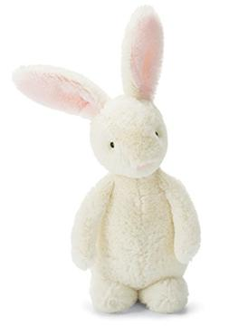 Jellycat Bobtail Bunny Pink Chime Rattle, 9 inches