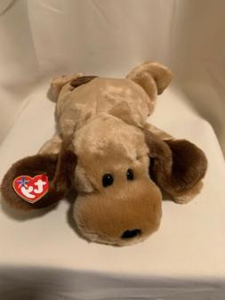 TY Bones the Brown Dog TY Beanie Buddy  Bones Stuffed Animal