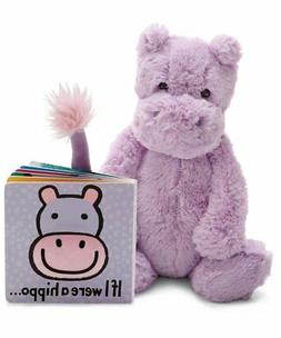 Jellycat Book and Stuffed Animal Gift Set, If I were a Hippo