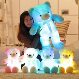 BOOKFONG Creative Light Up LED Teddy Bear Stuffed Animals Pl