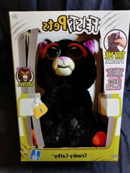 "Brand New Feisty Pets Black Cat Cranky Cathy 10"" Plush Growl"