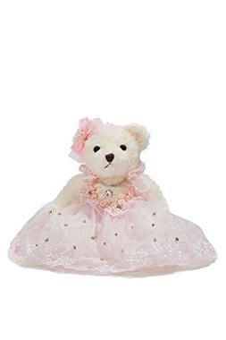 Bride Teddy Bear in Pink Tutu Dress Wedding Stuffed Animal S