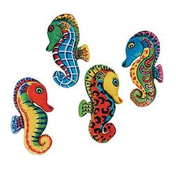 Fun Express Bright Colorful Plush Seahorses - 12 Sea Horse T