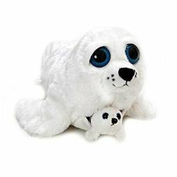 The Petting Zoo Bright Eye Pocketz Harp Seal Mom and Baby 13