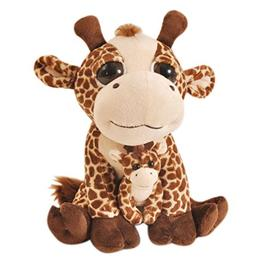 Bright Eyes Giraffe Pocketz - Stuffed Animal by The Petting