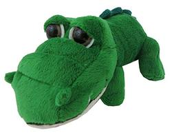 """The Petting Zoo Bright Eyes 11"""" Green Alligator"""
