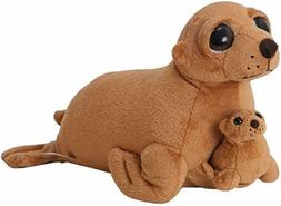 The Petting Zoo Bright Eyes Plush Pocketz Sea Lion- 12 Inche