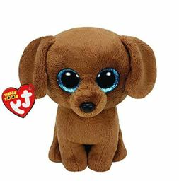 "Brown Dog 6"" Ty Beanie Boos Puppy Glitter Big Eyes Plush Stu"
