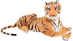 BRUBAKER Brown Plush Tiger 42 Inch Soft Toy Stuffed Animal
