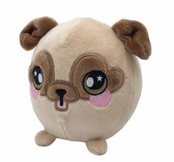 """Squeezamals Bryce Pug - 3.5"""" Super-Squishy Foam Stuffed Anim"""