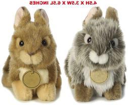 Realistic Baby Bunny Rabbit Pet Plush, Boy And Girl Stuffed