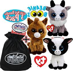 Ty Beanie Boos Butter , Harriet  & Gabby  Gift Set Bundle wi