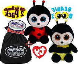 """TY Beanie Boos Buzby  & Izzy  Gift Set Bundle with Bonus """"Ma"""