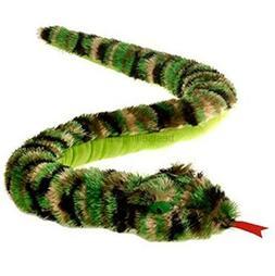 camouflage camo shaggy snake plush