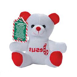 Fun Express Candy Cane Religious Stuffed Bears with Card Chr