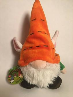 Carrot Top Gnomlin Stuffed Plush by Aurora w/ Tag, Bunny Ear