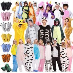 Cartoon Animals Pajamas Adults Kids Cosplay Sleepwear Totoro