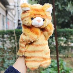 Cat Animal Hand Puppets Show Plush Stuffed Dolls Kindergarte
