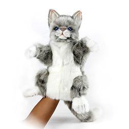 Cat Jacquard Hand Puppet Product Code: 7163 Hansa Creation U