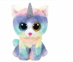"Cat Unicorn 6"" Ty Beanie Boos Puppy Glitter Big Eyes Plush S"