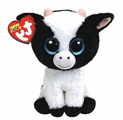 "Cattle 6"" Ty Beanie Boos Puppy Glitter Big Eyes Plush Stuffe"