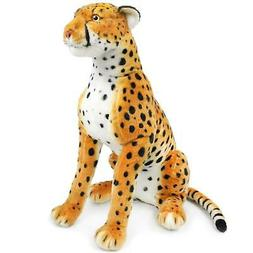 VIAHART Cecil The Cheetah   2 1/2 ft Tall Big Stuffed Animal