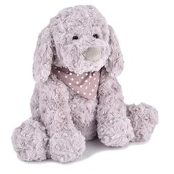 JOON Chika Rosy Plush Puppy Dog with Scarf, Grey, 10 Inches