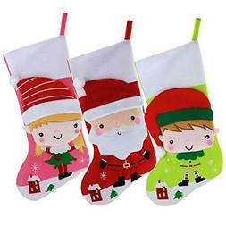 WEWILL Christmas Stockings for Kid Baby Children Lovely Cart