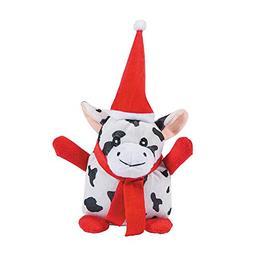 Fun Express - Christmas Stuffed Cows - Christmas Item for Bo