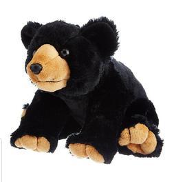 "CK CUDDLEKINS BLACK BEAR 12"" STUFFED ANIMAL BY WILD REPUBLIC"