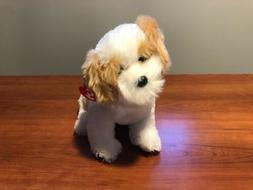 TY Classic Plush Barley The Dog Beige with White