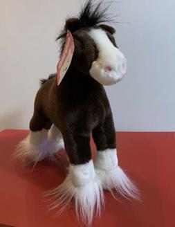 """Gund Clydesdale """" Dale """" Horse Plush Stuffed Animal 10"""" Brow"""
