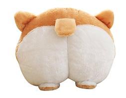 CN'Dragon Corgi Cute Butt Throw Pillow Animals Stuffed Toy