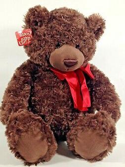 Gund CODY Teddy Bear Plush Stuffed Animal Brown Red Bow Gott