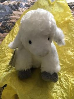 Colonial Williamsburg White Gray Sheep Lamb Stuffed Animal P