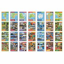Continents Learning Charts - Educational - 28 Pieces