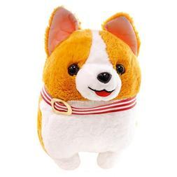 """Amuse Corgi Dog Big Plush - Ichi with Red Collar 19"""""""