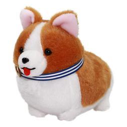 Corgi Plush Doll Soft Plush Toy Stuffed Animal Keychain Brow