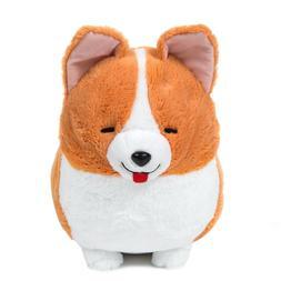 Corgi Plush Doll Amuse Stuffed Animal Dog Plush Toy Orange W