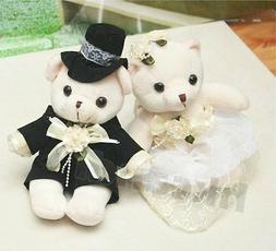 couple of yellow wedding Teddy Bear stuffed animals wedding