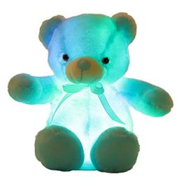 Creative Light Up LED Inductive Teddy Bear Stuffed Animals P
