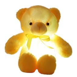 Creative Light Up LED Inductive Teddy Bear Stuffed Animals P