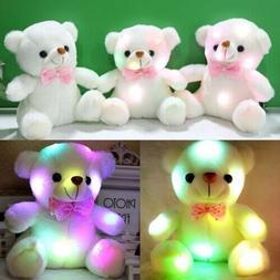 Creative Light Up LED Teddy Bear Stuffed Animals Plush Kids
