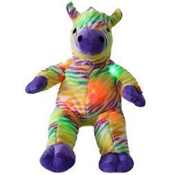 WEWILL Rainbow Zebra Creative LED Stuffed Animals Colorful L