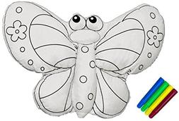 CREATIVITY ZOO - Butterfly Coloring Kit, Handmade Large Stuf