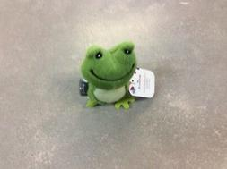 CROAKING FROG HALLMARK GREEN PLUSH  WITH SOUND-SQUEEZE STOMA