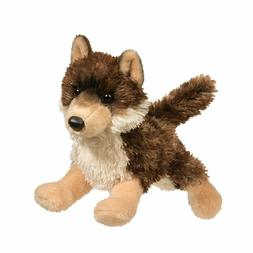 "Douglas Cuddle Toys 12"" Plush ALPINE the BROWN WOLF ~NEW~"